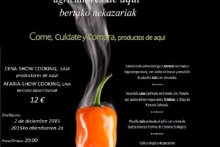 """Show Cooking Productores Km """"0"""" — 02.12.15 — Casa Gurbindo, Pamplona"""